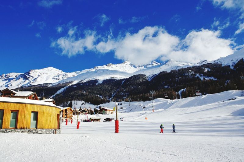 Val Cenis 😎⛷️ Holiday Alps Alps France Val Cenis Mountain Snow Snowboarding Cold Temperature Winter Snowcapped Mountain Sport Blue Ice Hockey Winter Sport Skiing Rocky Mountains
