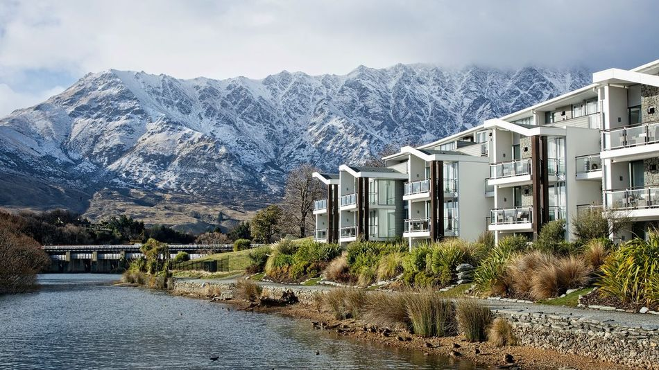 The Remarkables from The Hilton, Queenstown Architecture Beauty In Nature Building Exterior Cloud - Sky Day Hotel Queenstown Nz Lake Wakatipu, NZ Mountain Mountain Range Nature No People Outdoors Queenstown Nz Scenics Sky Snow Snowcapped Mountain The Remarkables Tranquil Scene Water