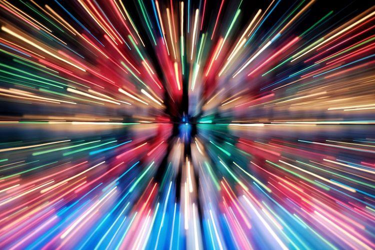 Close-up of illuminated lights