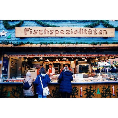 Fish specialties, Christmas markets, Hannover.