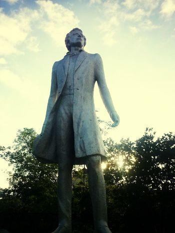 A.S. Pushkin . Great HERO Memorial