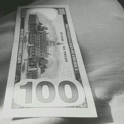 Hundred Dollar Bill Currency Black And White USD