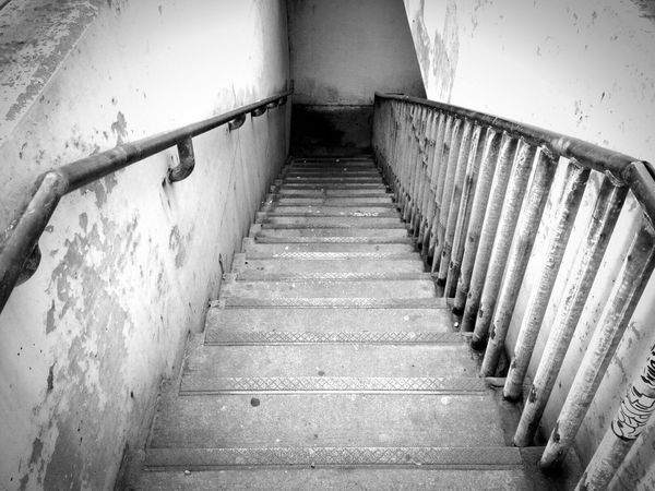 Urban Spring Fever Stairs down to the subway in Chicago... Where they go is up to you :) enjoy. Stairs Taking Photos Blackandwhite