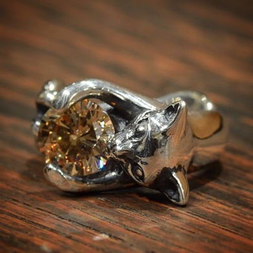 Cat Silveraccessories Hand Made Jewelry MadetoOrder Rings Silver  Hello World