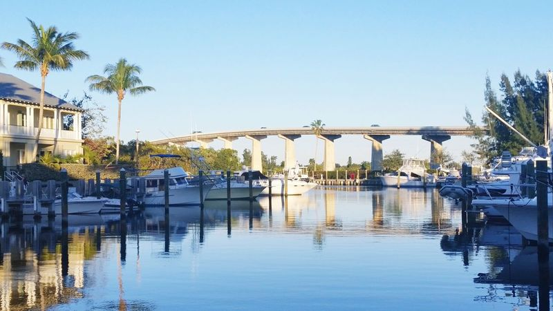 Bridges Expansion Bridge Wabasso Florida sunset Landscapes With WhiteWall