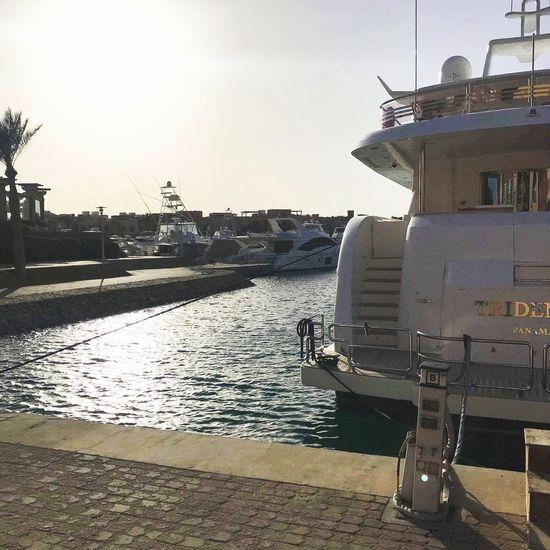 El Gouna resort EyeEmNewHere Egypt El Gouna Water Sea Nautical Vessel Beach Sand Sky Harbor Marina Yacht