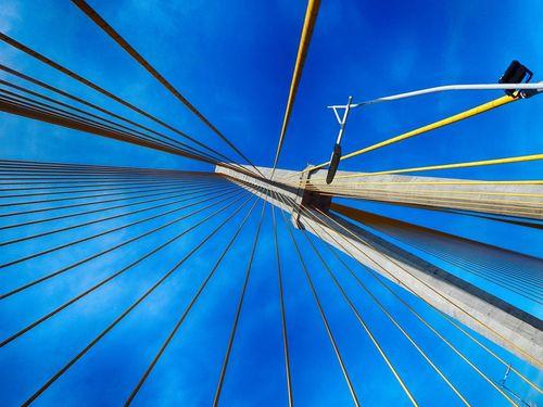 Bridge over rio negro Blue Blue Sky Bridge Creativity Haubans Human Construction Lines Manaus