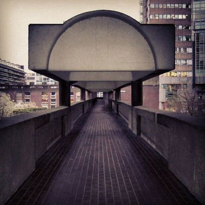 Barbican Walkway, London (2008). Whpunderoverpass London Barbican Flickr
