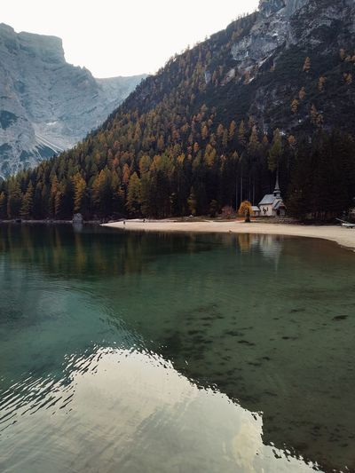 Environmental Conservation Landscape Beauty In Nature Autumn Freshness Trees Lagodibraies Wallpaper Nature Forest Photography Beautiful Travel Nature Photography Wonderful View Naturelovers Environment Lake View Traveling Travel Destinations Tree_collection  Tree Mountain Water Forest Lake Tree Area Pinaceae Snow Reflection Pine Tree