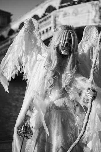 Angel Black And White Carnival Crown Death Disguise Rialto Saber Street Streetphotography Venice