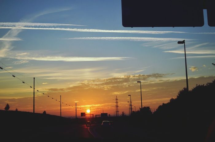 On The Road Morning Sun Driving In My Car ⛔Highway↗Autobahn🚳