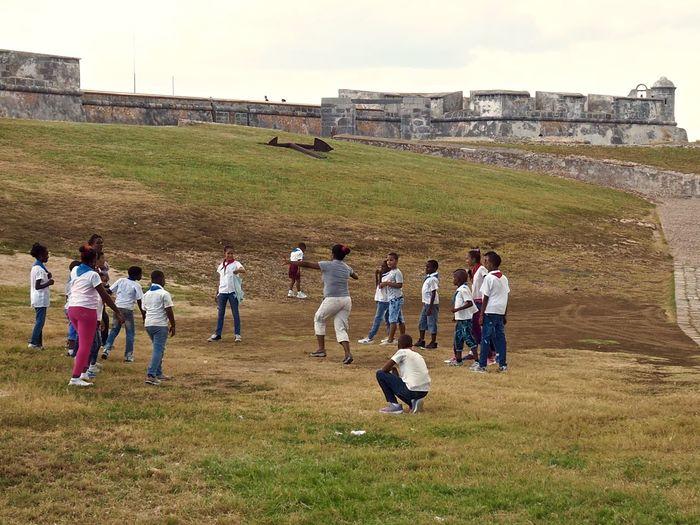 Fort Santiago De Cuba Large Group Of People Real People Togetherness