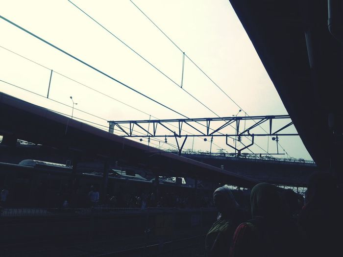Tanah Abang :) Train Station Waiting Alone