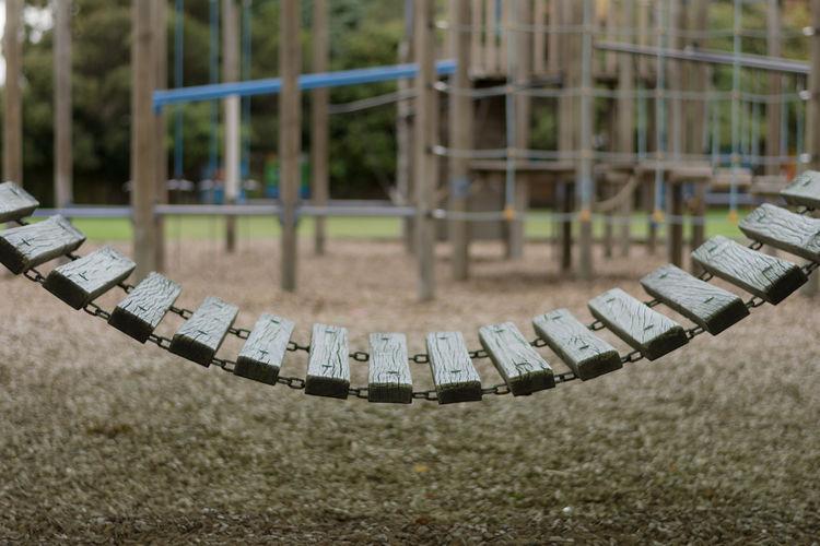 Close-up of playground