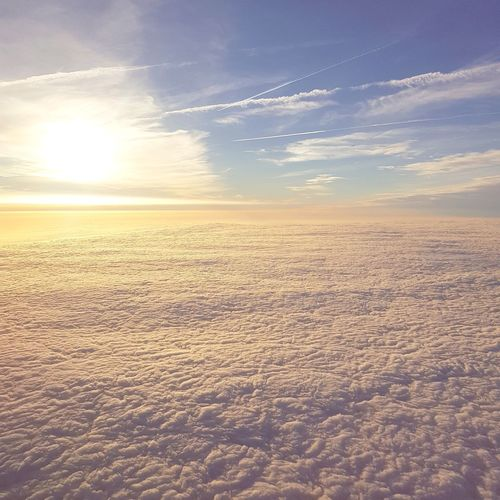 Viewfromtheplane Clouds Above The Clouds Sunset Nature Scenics Cloud - Sky Beauty In Nature Landscape Outdoors Sun Sky Tranquility Sunlight No People