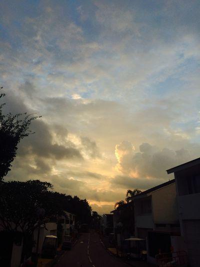 Built structure against sunset sky
