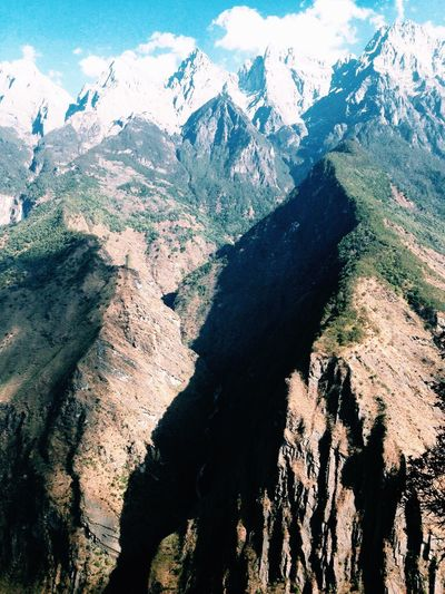 Wall of Stone Nature Mountain Range Beauty In Nature Majestic Aybaby Tiger Leaping Gorge China Hikingadventures