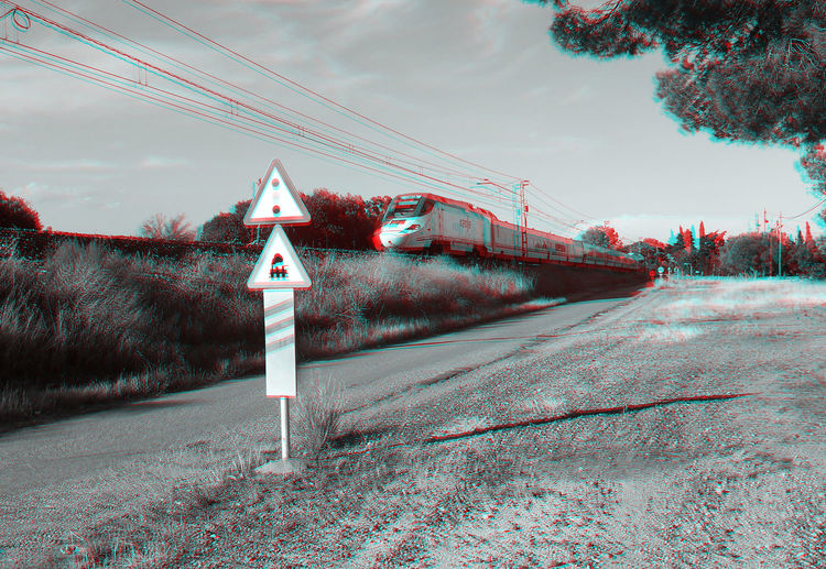 3D 3D Photo 3D Art 3D Glasses  Visualize With Anaglyph Glasses Train Tracks