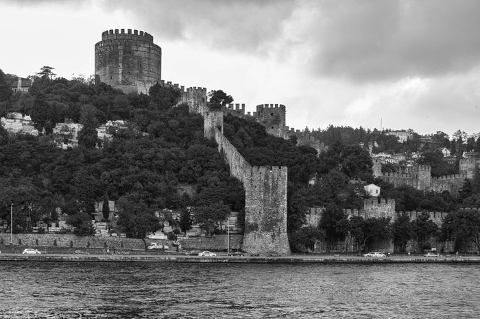 Rumeli Hisari Architecture Built Structure Castle Castle, Fortress, Protection, Fort, Security, Ancient, Dominating Cloud Cloud - Sky Cloudy Day Fortress, Fort, Stronghold, Fortification, Keep, Citadel History Nature No People Old Outdoors Rumeli Hisarı Rumelihisari Scenics Sky The Past Tranquil Scene Travel Destinations Tree Turkey, Istanbul, Europe, European, Asia, Asian, Bosphorous, Water, Black Sea, Sea, Water Waterfront