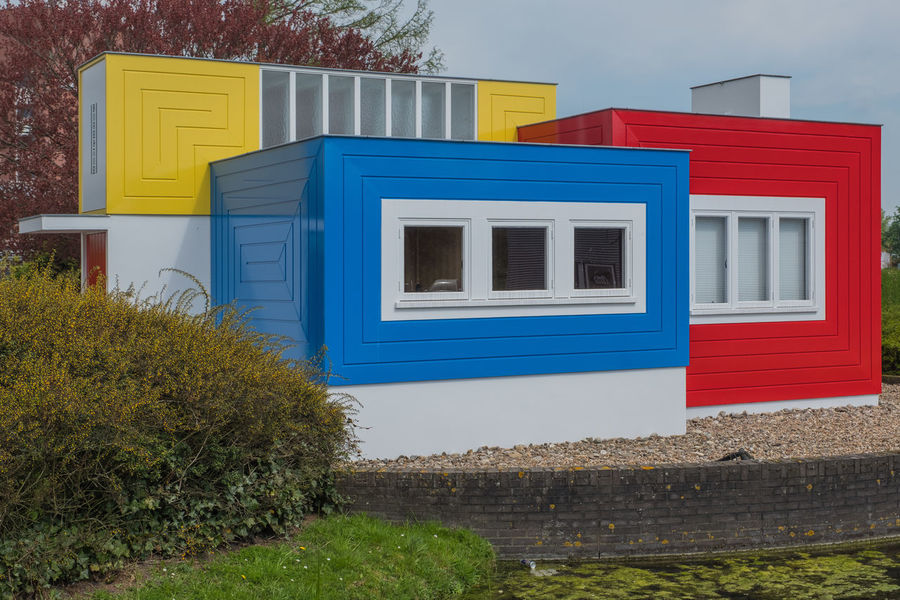 Bollenstreek, Tulip Wonderland Red Architecture Blue Building Building Exterior Built Structure House Multi Colored Window Yellow