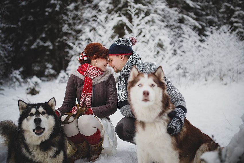 Happy Petrozavodsk Wedding Winter Karelia
