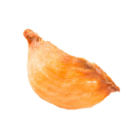 High angle view of orange against white background