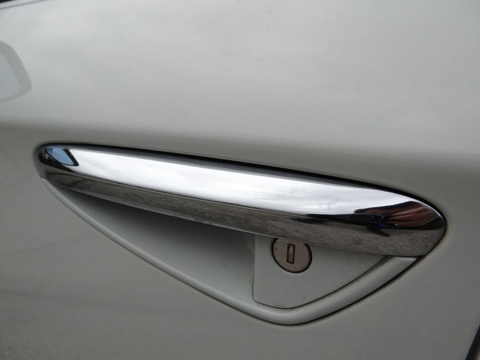 High angle view of car on mirror