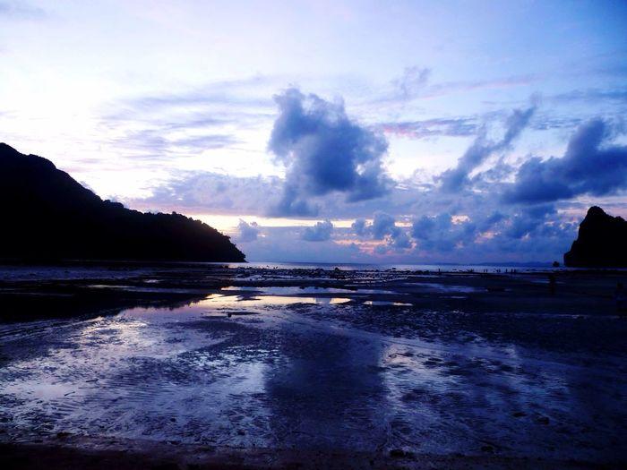 Thailand Koh Phi Phi Phi Phi Islands Sunset Nightfall Sea Beach Blue Purple