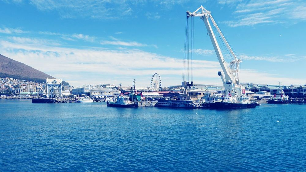 Harbor Nautical Vessel Crane - Construction Machinery Cityscape Business Finance And Industry Commercial Dock Built Structure Urban Skyline Industry Sea Architecture Cape Town, South Africa My Unique Style Table Mountain View Capture The Moment EyeEmNewHere Cape Town In The Distance Amazing View Scenics Horizon Over Water Backgrounds Harbour Travel Vacation Photos   Neon Life Lost In The Landscape Stories From The City