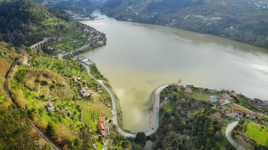 High angle view of douro
