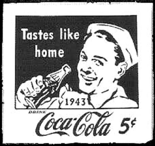 Vintage Human Representation TastesLikeHome Commercial Signs Signs Western Script WesternScript Text Blackandwhite Black And White Coca~Cola ® Coke Coca-cola Coca Cola Sign Check This Out The Dynamic Ribbon™ Drink Coca~cola ® Drinking Coke Refreshing Coca-cola Enjoy Coca~Cola Cocacola Drink Coca-cola Coke :) 1943 Tastes Like Home Drink Coke Coca~cola Coca-Cola, Label/logo/sign 5cents