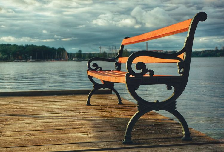 Bench 2019 Niklas Storm Juli Water Wood - Material Sky Pier Idyllic Calm Horizon Over Water Tranquil Scene Lake Lakeside Scenics My Best Photo The Great Outdoors - 2019 EyeEm Awards