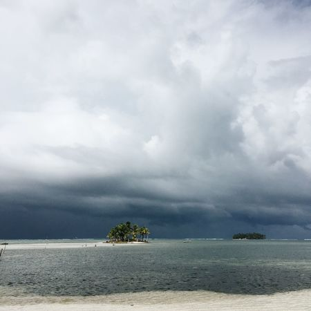 Tropical island in the San Blas archipelago, Guna Yala, Panama. Square Stormy Weather Beach Beauty In Nature Cloud - Sky Day Horizon Over Water IPhoneography Idyllic Landscape Mobile Photography Nature No People Outdoors Sand Scenics Sea Sky Storm Cloud Thunderstorm Tranquil Scene Tranquility Travel Destinations Tree Water