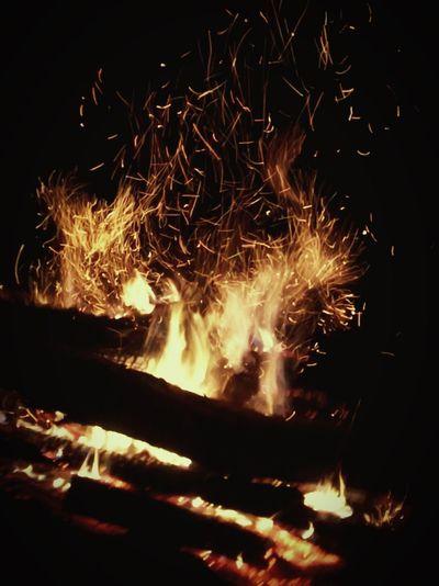 Fire Burning Fire - Natural Phenomenon Flame Heat - Temperature Motion Night EyeEmNewHere