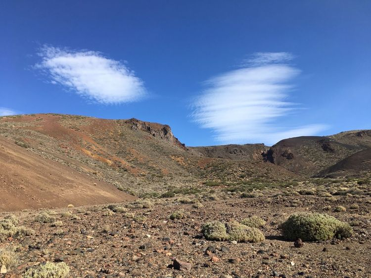 Nature Blue Landscape Sky Tranquility Tranquil Scene Beauty In Nature Day Outdoors Clouds And Sky Tenerife Scenics Arid Climate Desert Mountain