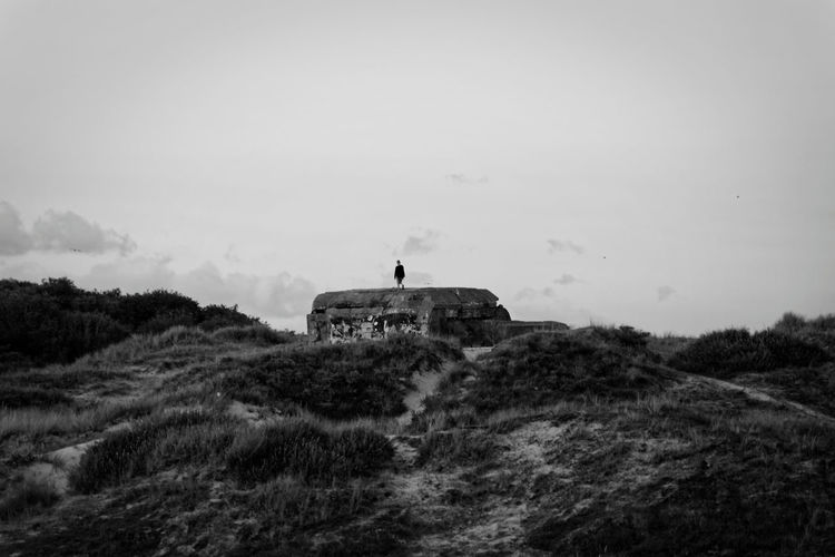 Old Bunker by the beach Sky Architecture Nature Built Structure Outdoors Landscape History Blackandwhite Monochrome Bunker Remains Lost in the Landscape Lostplaces Landschaft Geschichte Germany Deutschland Dunes Beach Strand Coast Küste