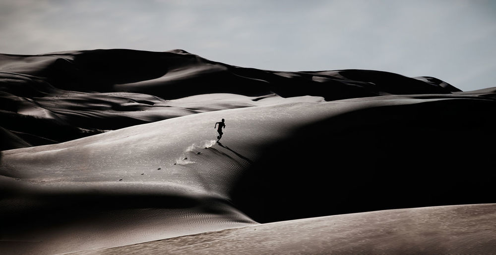 Beauty In Nature Close-up Day Desert Landscape Low Angle View Nature Outdoors Runner Sand Dune Sky
