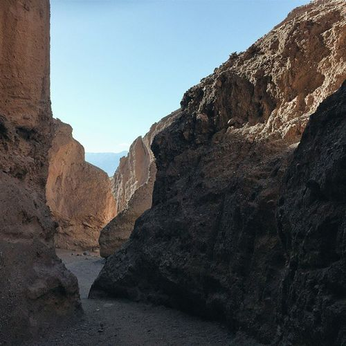 Canyon crevices. Deathvalleynationalpark Deathvalley Naturalbridge Naturalbridgecanyon california roadtrip