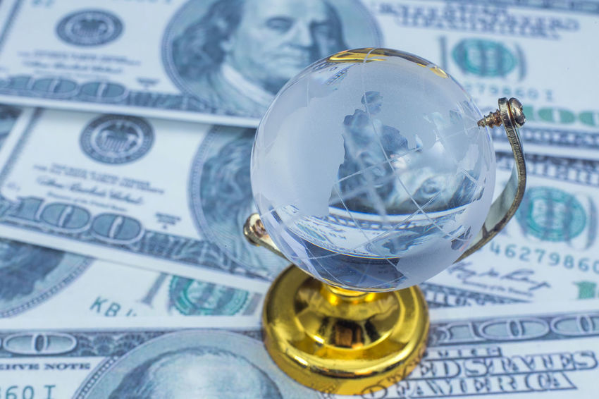 Business Close-up Crystal Ball Currency Day Finance Fortune Telling Indoors  Investment Newspaper No People Paper Currency Savings Stock Market And Exchange Wealth