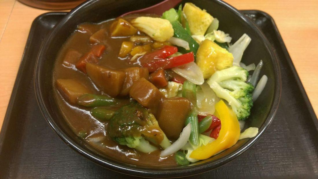Vegitables Curry Japanese Food Foodporn Enjoying A Meal In My Mouf Yummy Food Taking Photos Donburi 吉野家のベジカレー!一日の半分の野菜が採れるとか!マジ(笑)?