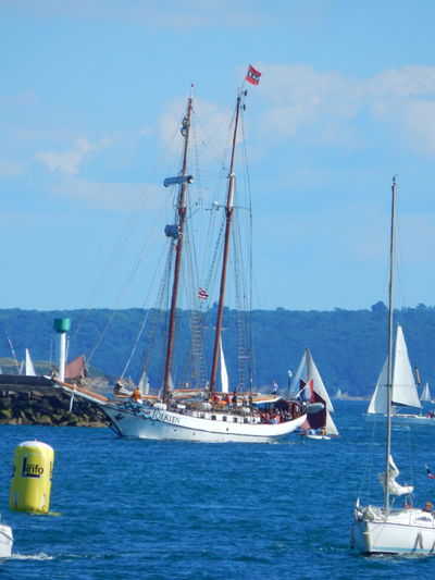 Adventure Club Blue Boat Brest Brest2016 Canvas Day Event France Horizon Over Water Journey Mast Mode Of Transport Nature Nautical Vessel On The Way Sailboat Sailing Sea Ship Sky Tranquil Scene Tranquility Transportation Water