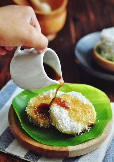 Lupis - Indonesian food Indonesianfood Lupis Sweet Food Human Hand Drink Dessert Tea - Hot Drink Close-up Sweet Food Food And Drink