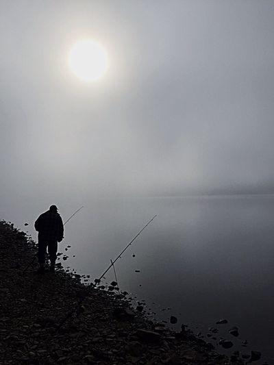 Mist on the loch Landscape Scotland Misty Loch Earn Fishing