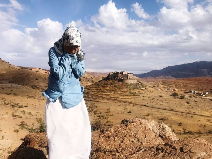 One Person Nature Outdoors Cloud - Sky Cloudy Sky Tafraout Maroc Mountain