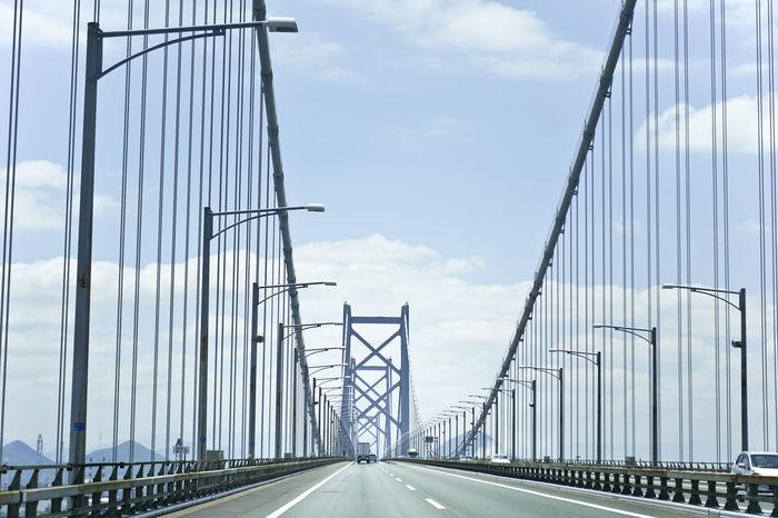 Ehime Japan Bridge Day No People Okayama Outdoors Road Sky The Way Forward Transportation 瀬戸大橋