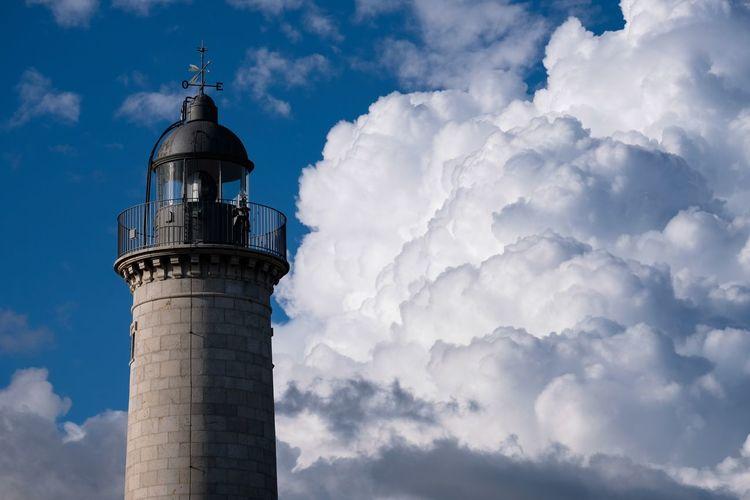 Lighthouse Mediterraneo Vilanova I La Geltru Vilanova Faro Lighthouse Sky Cloud - Sky Architecture Built Structure Building Exterior Tower Nature