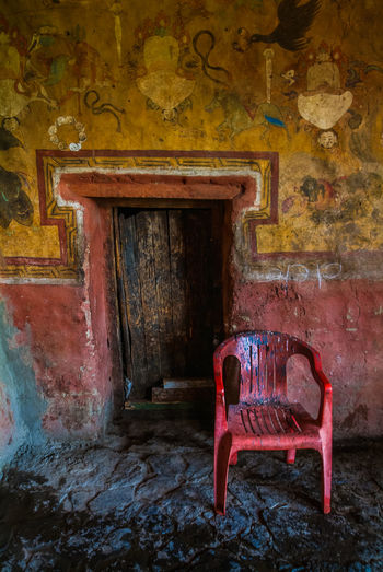 Thikse gompa or thikse monastery Abandoned India Leh Leh Ladakh.. Mountain Mural Art No People Seat Thiksey Travel Travel Destinations