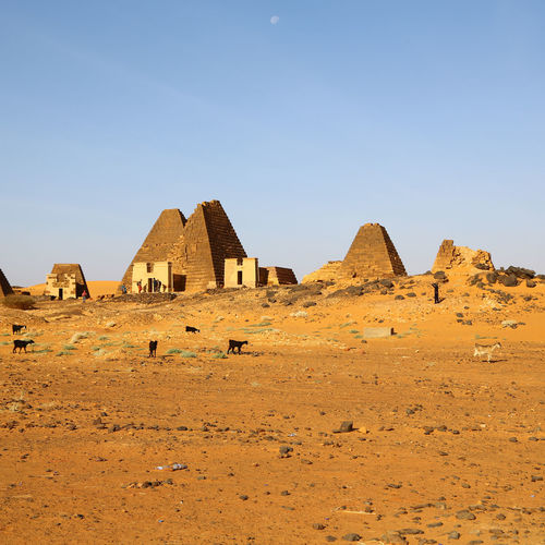 View of castle in desert