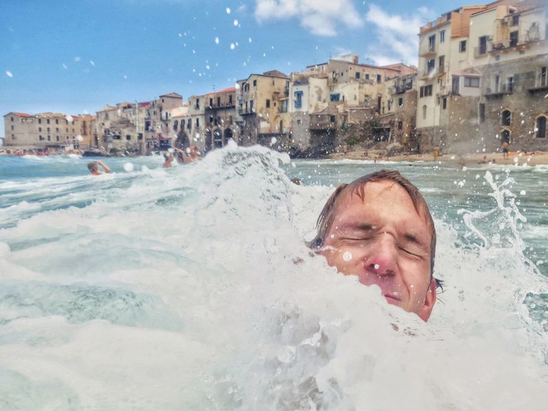 Blue Wave Sicily Cefalu  Italy❤️ Italia Italy Holidays Travel Italian Riviera Underwater The Essence Of Summer Natural Light Portrait People And Places Live For The Story Lost In The Landscape