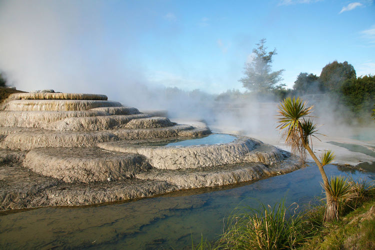 Steam Taupo Taupo, New Zealand Beauty In Nature Hot Spring Landscape Nature New Zealand Outdoors Scenics Silica Terraces Tranquil Scene Tranquility Travel Destinations Wairakei Water